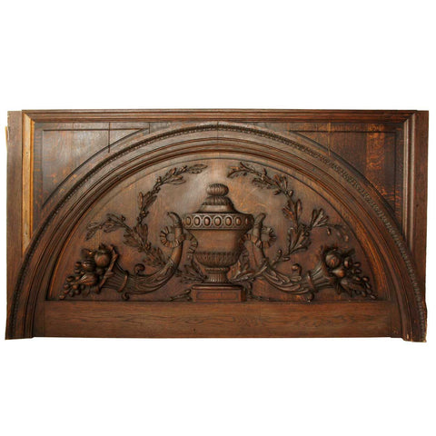 Argentine Oak Door Lintel from the Jockey Club of Buenos Aires