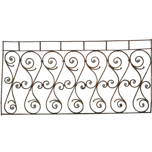 French Colonial Wrought Iron Balcony Railing