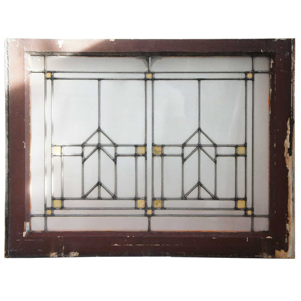 Set of 24 American Prairie School Stained and Leaded Glass Windows