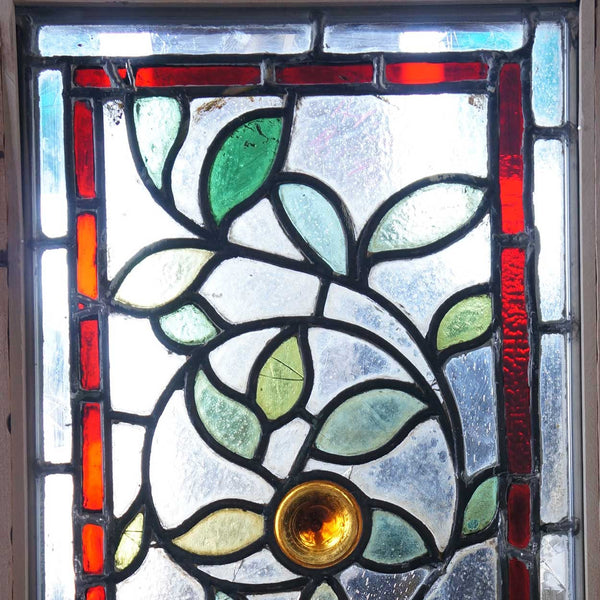 English Eastlake Stained and Leaded Glass Window