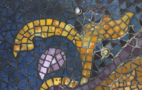 Leaded Mosaic Transom Window