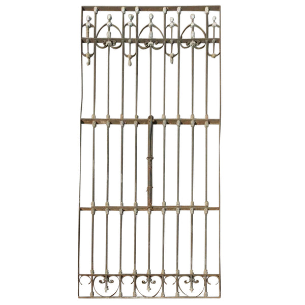 Large Spanish Wrought Iron and Zinc Window Grille