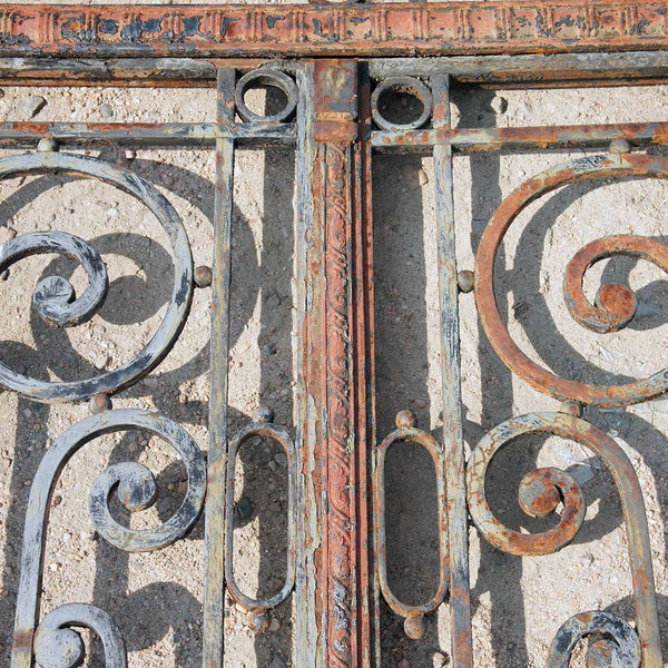 Argentine Beaux Arts Wrought Iron Entry Gate