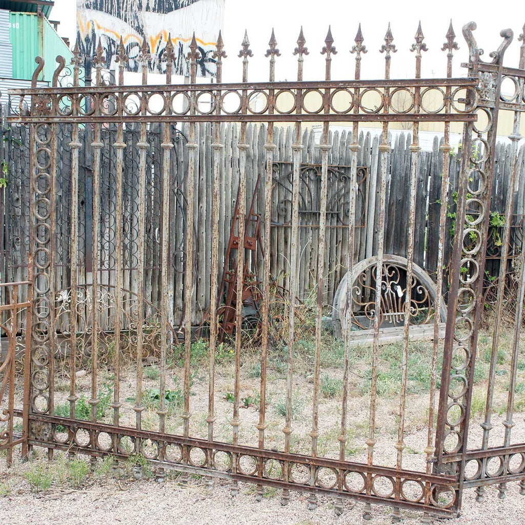 Iron Fence Panels >> Antique Argentine Baroque Revival Forged Iron Fence Panel