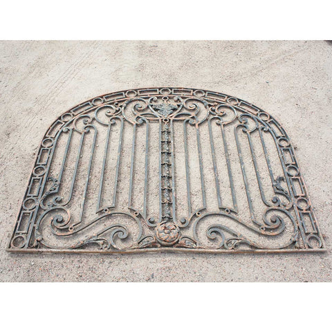 Very Large Argentine Beaux Arts Wrought Iron Arched Panel