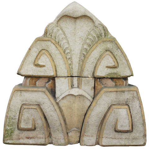 American Art Deco Terracotta Acroterion