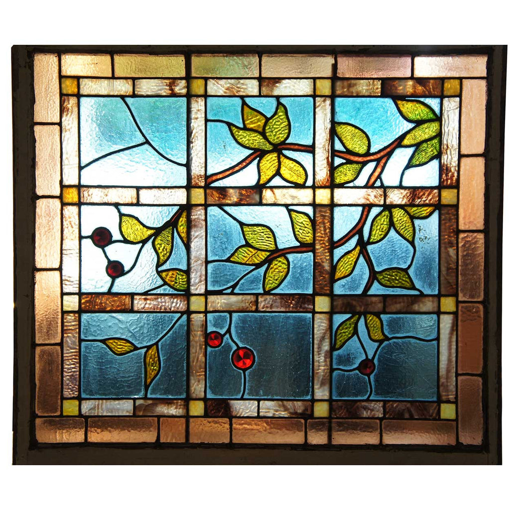 Leaded Glass Designs For Windows - American aesthetic movement stained and leaded glass cherry branch window