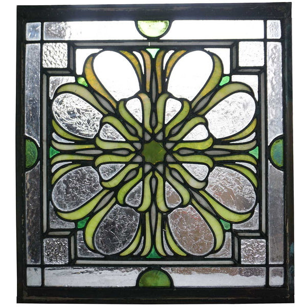 Set of 17 American Louis Sullivan Style Stained and Leaded Glass Skylight Panels