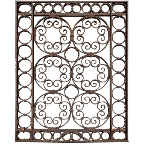 American Victorian Wrought Iron Elevator Cage Door Part