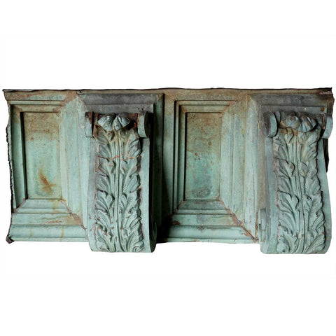 Pair of American Neoclassical Copper Architectural Cornice Brackets