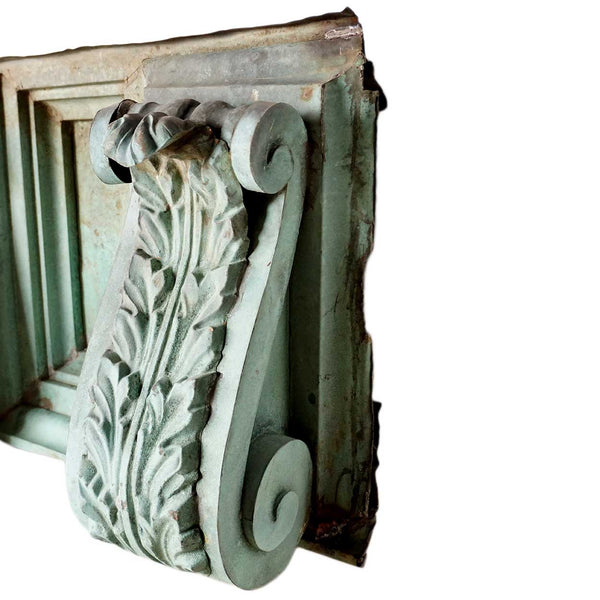 American Neoclassical Patinated Copper Architectural Frieze