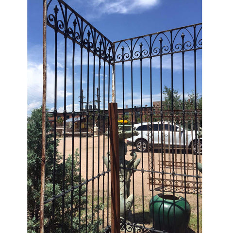 Very Large French Beaux Arts Wrought Iron Window Grille