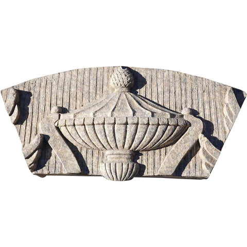 American Glazed Terracotta Architectural Building Urn Panel