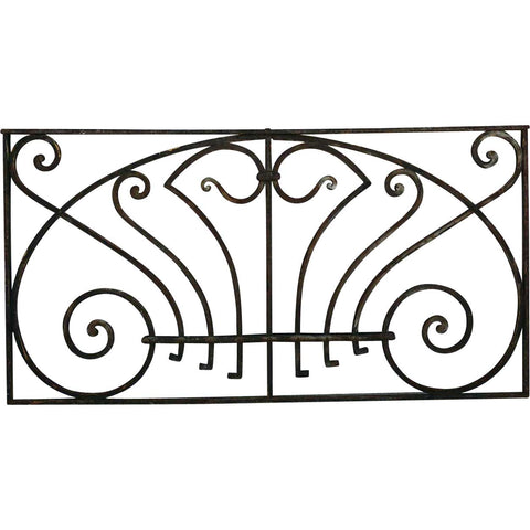 Victorian Wrought Iron Rectangular Transom Grille
