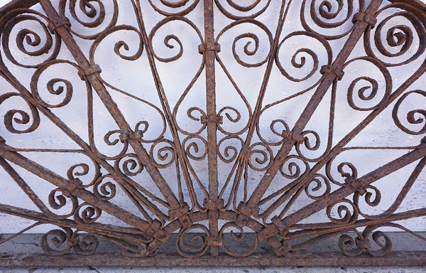 Spanish Wrought Iron Arched Transom