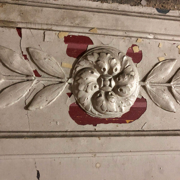 French Neoclassical Painted Plaster on Wood Architectural Frieze