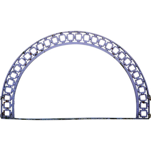 English Victorian Blue Painted Cast Iron Architectural Transom Arch