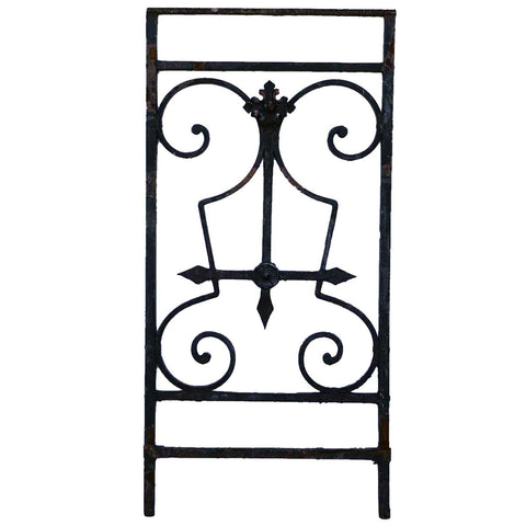 French Beaux-Arts Painted Wrought Iron Panel