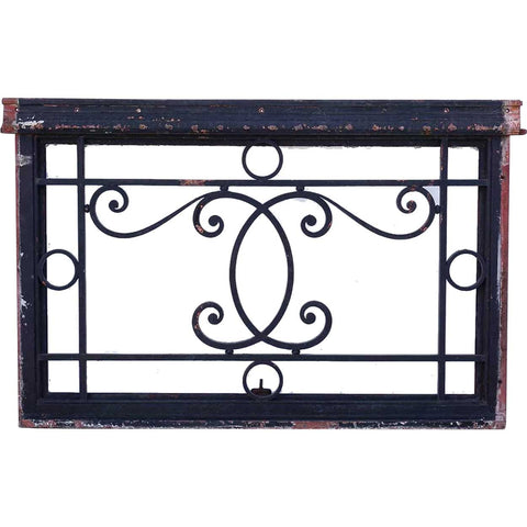 French Beaux-Arts Wrought Iron Door Transom