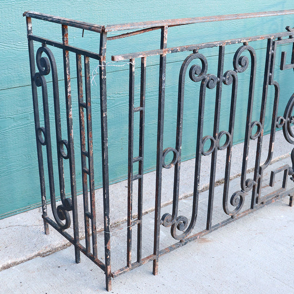 French Louis XVI Revival Painted Wrought Iron Balcony