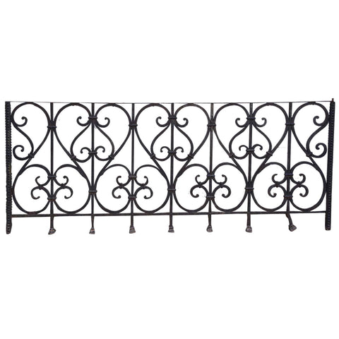 French Louis XV Style Heavy Wrought Iron Balcony