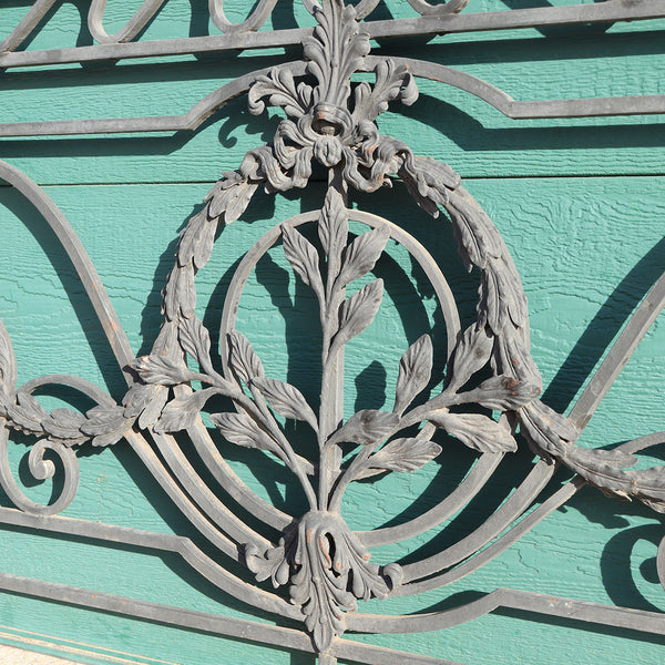 Large French Louis XV Style Wrought Iron and Brass Balcony