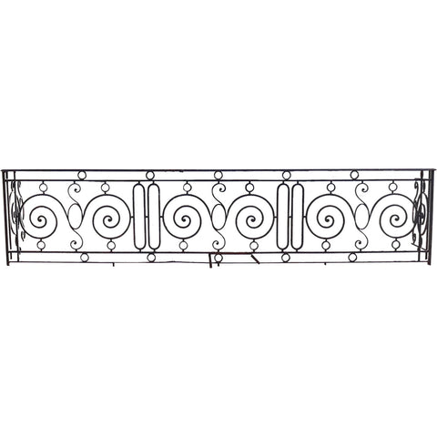 Large French Beaux Arts Wrought Iron Balcony