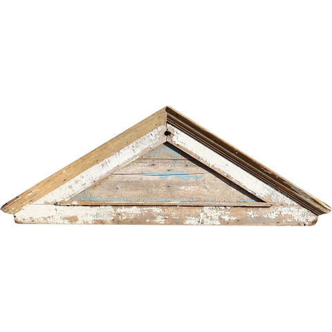 American New England Painted Pine Door Pediment