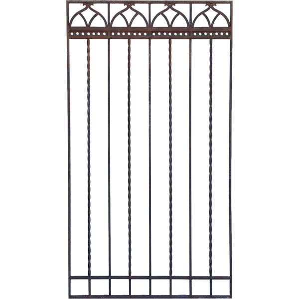 Large American Gothic Revival Mountain States Telephone Building Wrought Iron Grille Panel