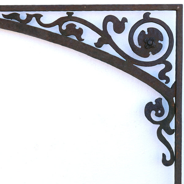 American Gothic Revival Mountain States Telephone Building Wrought Iron Window Grille