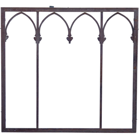 American Gothic Revival Wrought Iron Window Grille