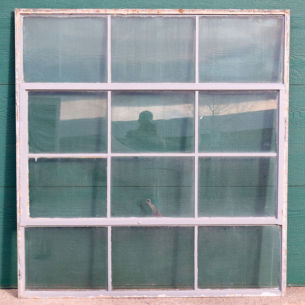 Vintage American Industrial Painted Steel Casement Warehouse Window