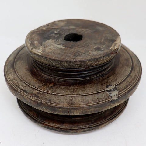 Indian Teak/Rosewood Architectural Round Pillar Bases (8 available)