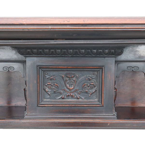 English Victorian Mahogany Fireplace Mantel Surround