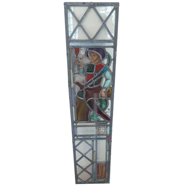 Set of Four American Chicago EDGAR MILLER Arts and Crafts Stained Glass Windows