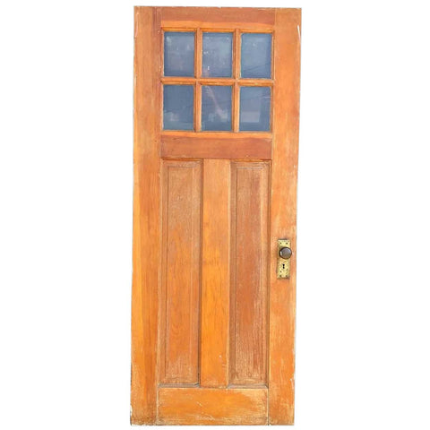 American Bungalow / Craftsman Pine and Six-Panel Glass Single Door