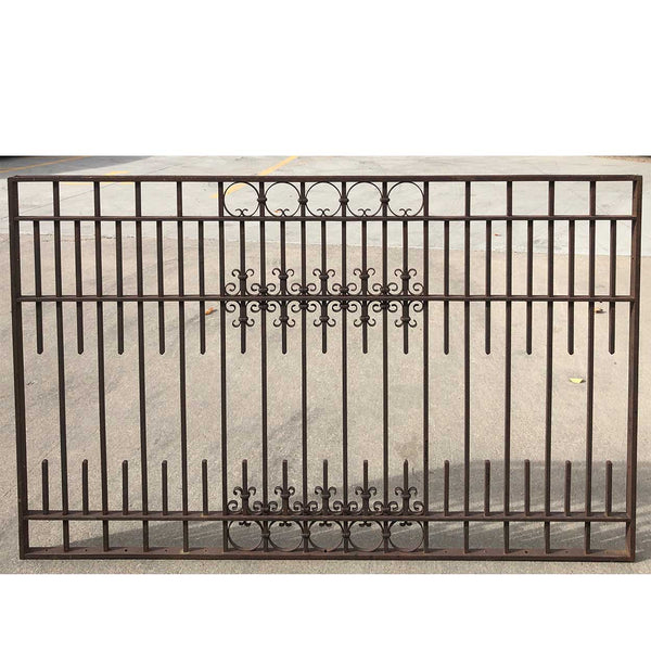 American Denver Blacksmith Made Wrought Iron Cashier's Cage Architectural Panel