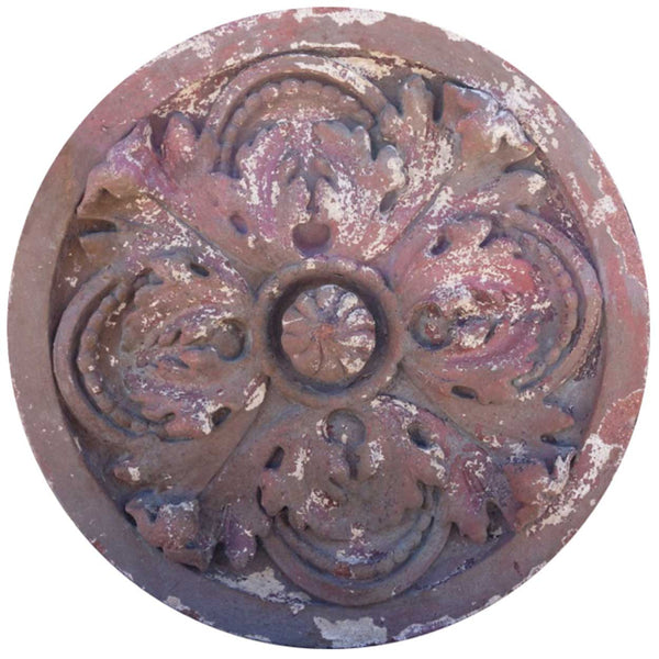 American Victorian Red Terracotta Architectural Building Facade Rondel