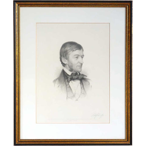 After SAMUEL W. ROWSE Engraving, Portrait of Ralph Waldo Emerson