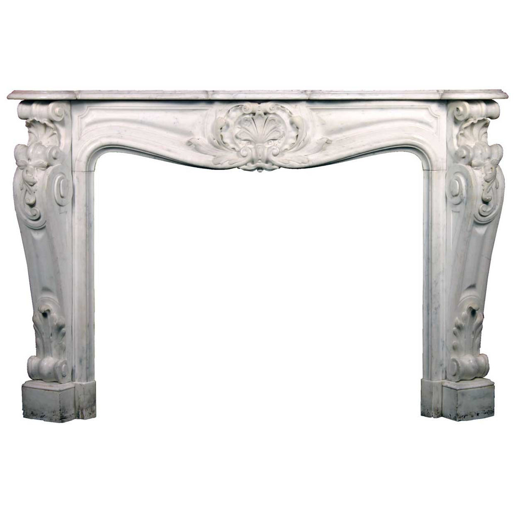 antique exceptional french louis xv style marble fireplace