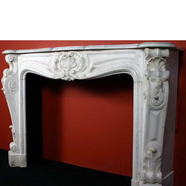 Exceptional French Louis XV Style Marble Fireplace Surround