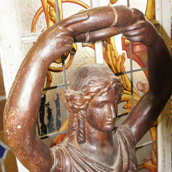 French Neoclassical Cast Iron Statue