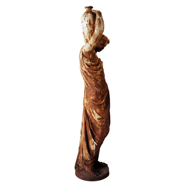 French MATHURIN MOREAU Val-D'Osne Cast Iron Standing Female Statuary Figure
