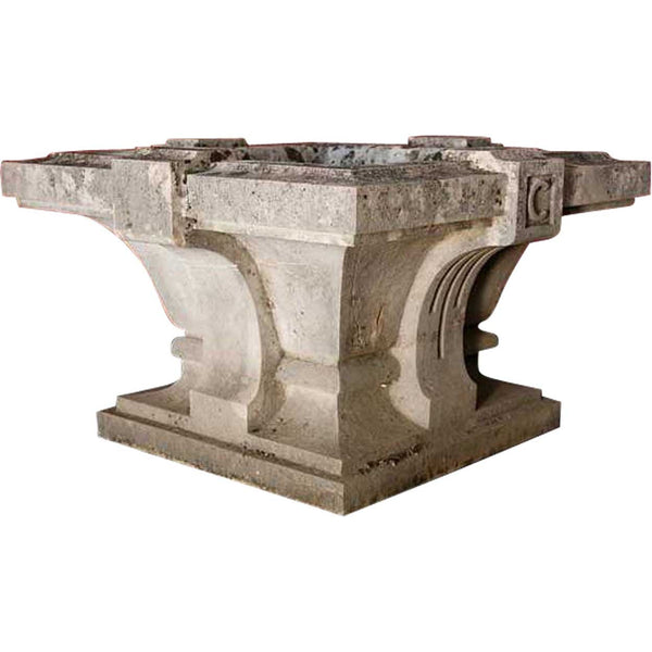 French Hand Carved Limestone Jardiniere or Fountain Basin