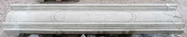 French Cantilever Limestone Fireplace Surround