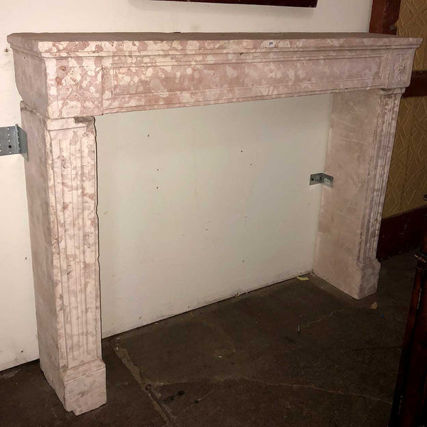 French Directoire Bourgogne Stone Fireplace Surround