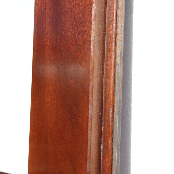 Pair of Vintage Solid Mahogany and Beveled Glass Single Interior Room Divider Doors