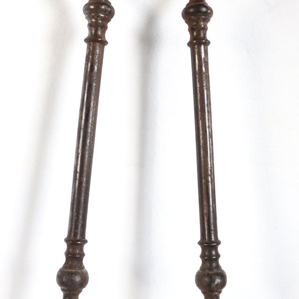 English Georgian Brass and Iron Fireplace Tongs