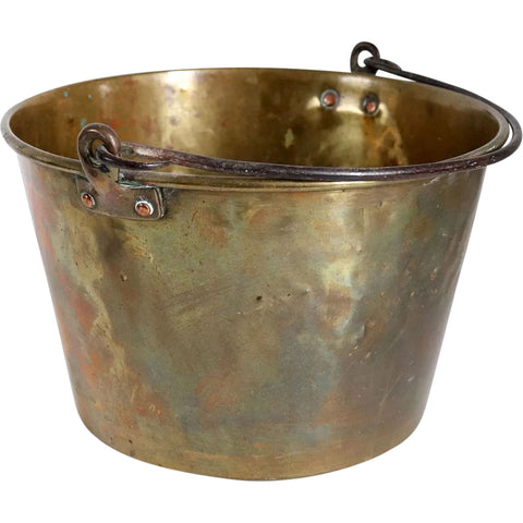 American New England Brown and Brothers Brass and Iron Pail