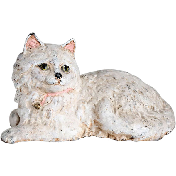 American Hubley Hand Painted Cast Iron Persian Cat Door Stop